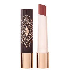 New Charlotte Tilbury Hyalironic Happikiss Lipstick Balm Happipetal Tawny Nude
